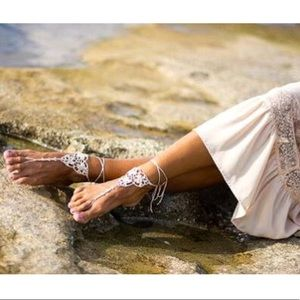 Shoes - Footless boHo sandals. A picture tells a storyNWOT